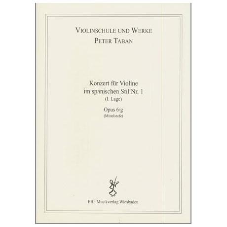 Taban, P.: Op. 6/g: Konzert im spanischen Stil Nr. 1
