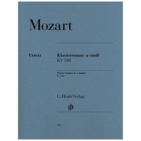 Mozart, W. A.: Klaviersonate a-Moll KV 310 (300d)