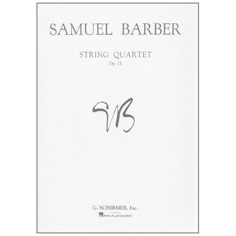 Barber, S.: Streichquartett Op. 11