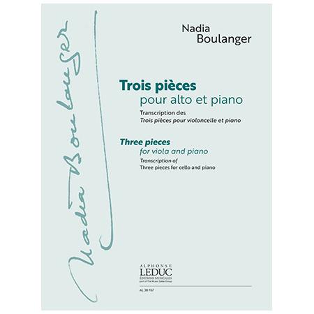 Boulanger, N.: 3 Stücke