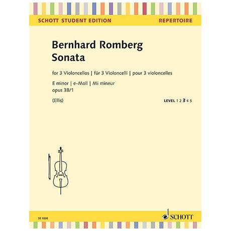 Romberg, B.: Violoncellosonate Op. 38/1 e-Moll