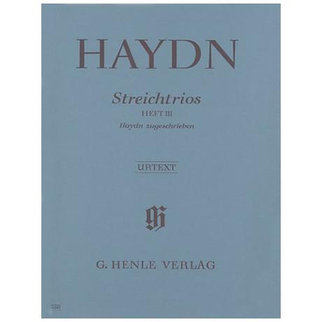 Haydn, J.: Streichtrios Heft 3: Divertimenti Hob. V: D1, F1, B1, A2, C4, D3, G1, C1 Urtext