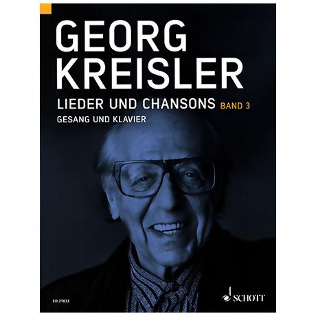 Kreisler, G.: Lieder und Chansons Bd.3