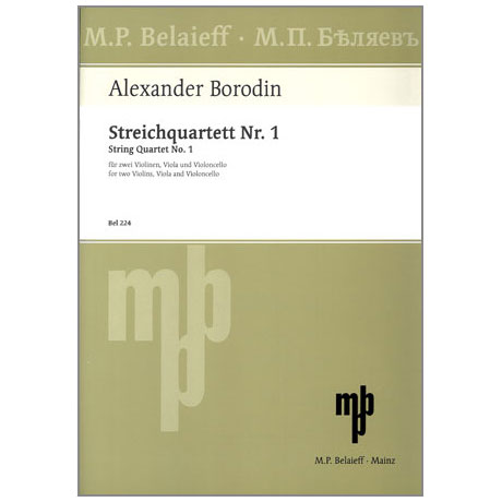 Borodin, A.: Streichquartett Nr. 1, A-Dur