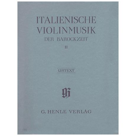 Italienische Violinmusik der Barockzeit Band 2