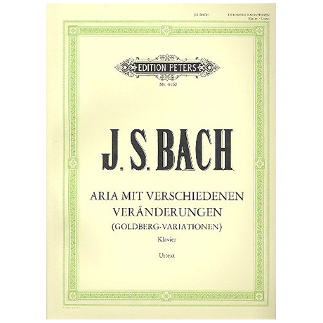 Bach, J. S.: Aria mit 30 Veränderungen (Goldberg-Variationen) BWV 988