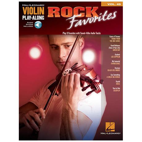 Violin Play-Along Volume 49: Rock Favorites (+Download Code)
