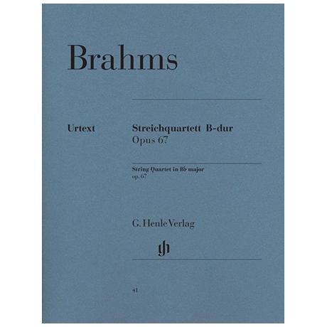Brahms, J.: Streichquartett Op. 67 B-Dur