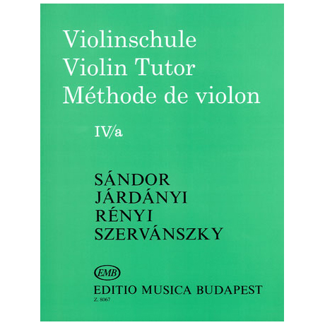 Sandor, G.: Violinschule Band 4 a
