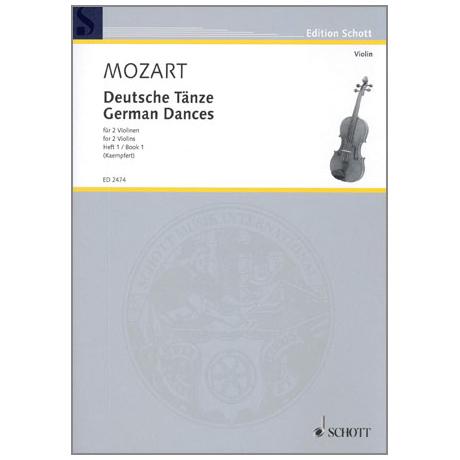 Mozart, W. A.: Deutsche Tänze Band 1