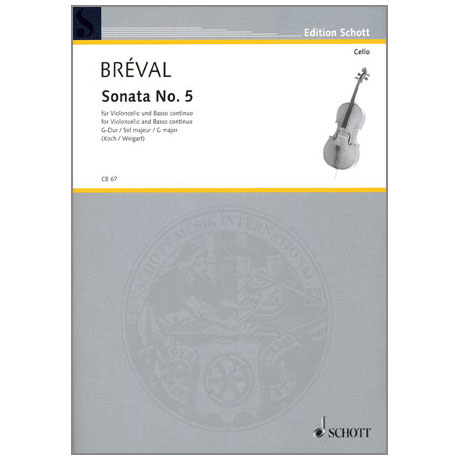 Bréval, J. B.: Violoncellosonate Nr. 5 G-Dur