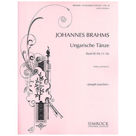 Brahms, J.: Ungarische Tänze Band 3