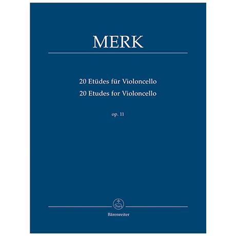 Merk, J.: 20 Etüden für Violoncello Op. 11