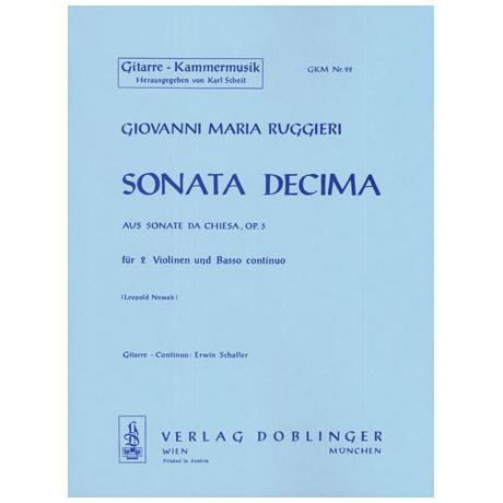 Ruggieri, G.M.: Sonata decima D-Dur Op.3
