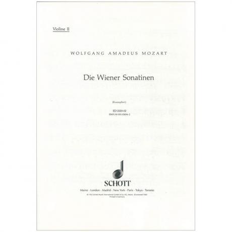 Mozart, W. A.: Die Wiener Sonatinen – Violine 2
