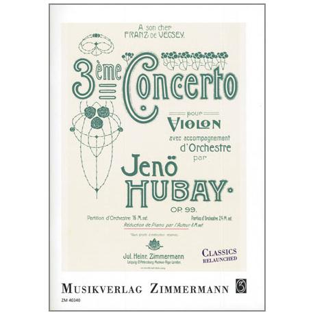 Hubay, J.: Concerto Nr. 3 Op. 99 g-Moll