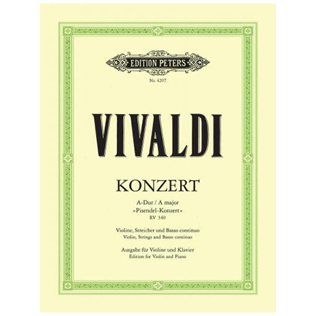 Vivaldi, A.: Violinkonzert A-Dur RV 340