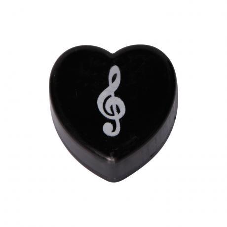 Herz-Radierer schwarz