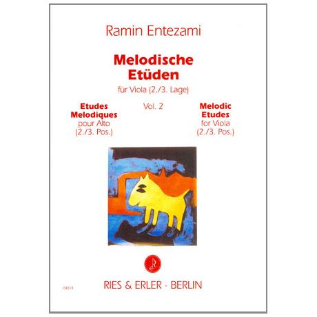 Entezami, R.: Melodische Etüden für Viola Band 2