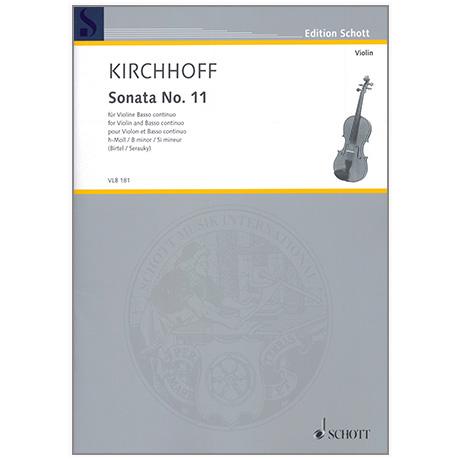 Kirchhoff, G.: Violinsonata Nr. 11 h-Moll