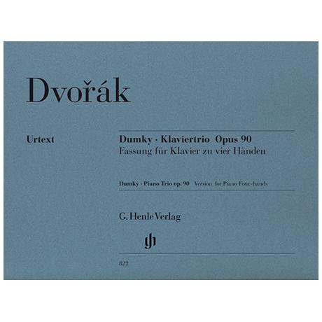 Dvořák, A.: Dumky – Klaviertrio Op. 90 zu 4 Händen