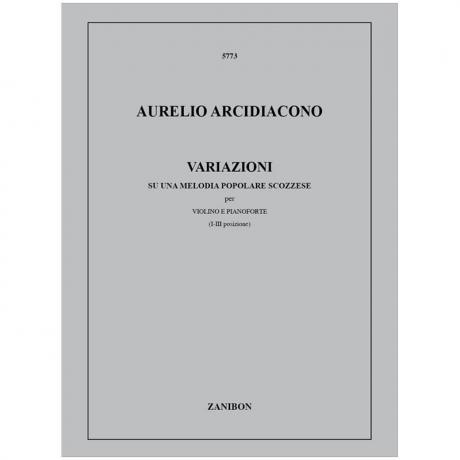 Arcidiacono, A.: Variazioni su una melodia popolare scozzese (1976)