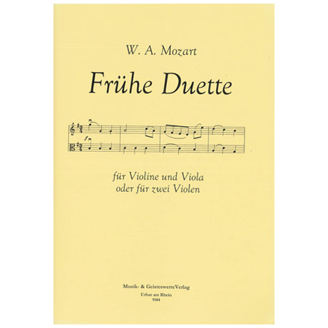 Mozart, W. A.: Frühe Duette