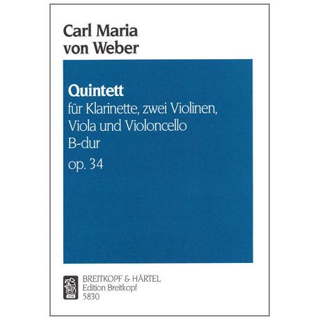 Weber, C.M.v.: Quintett B-Dur op. 34