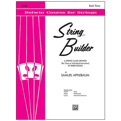 Applebaum, S.: String Builder Book Three – Violin