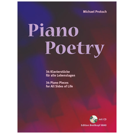 Proksch, M.: Piano Poetry (+CD)
