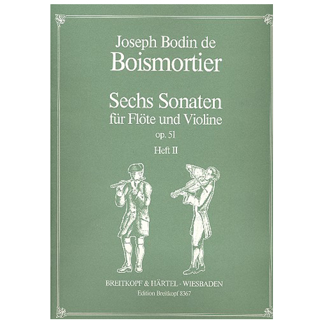 Boismortier, J.B.d.: 6 Sonaten op.51 Band 2 (Nr.4-6)