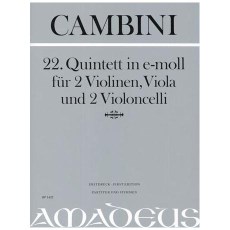 Cambini, G.: 22. Quintett in e-moll