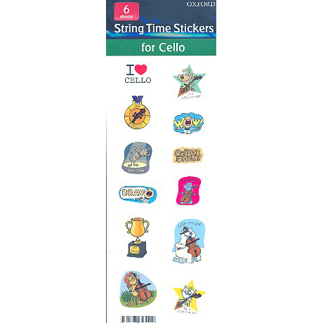 Blackwell, K & D.: String Time Stickers for Cello
