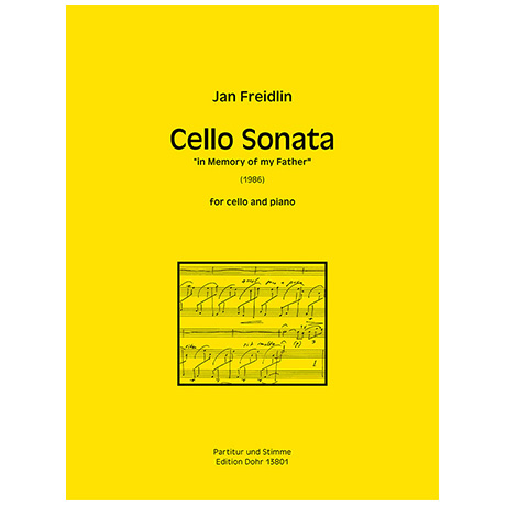 Freidlin, J.: Cello Sonata »in Memory of my Father« (1986)
