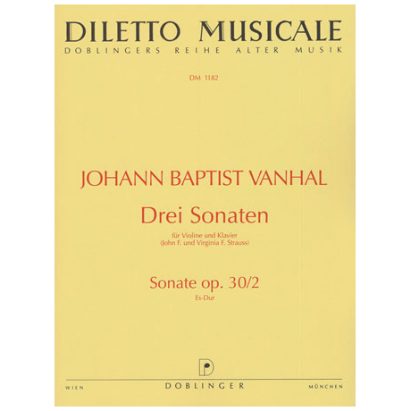Vanhal, J.B.: 3 Sonaten Es-Dur, Op.30/2