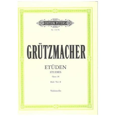 Grützmacher: Technologie op. 38 Bd.2: 12 Studien mit Daumenaufatz