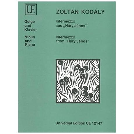 Kodály, Z.: Intermezzo aus »Háry János«