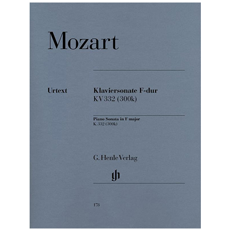 Mozart, W. A.: Klaviersonate F-Dur KV 332 (300k)