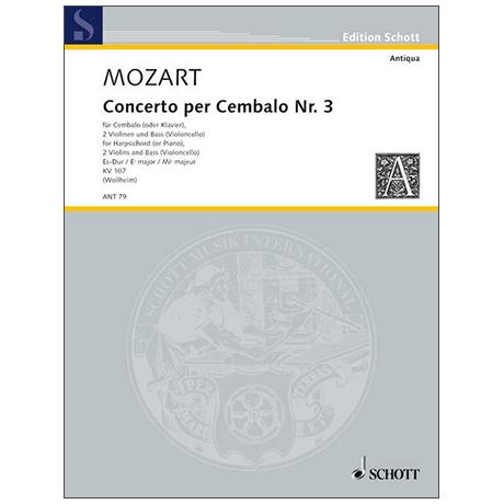 Mozart, W. A.: Concerto III KV 107 Es-Dur