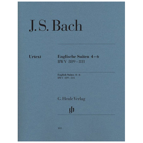 Bach, J. S.: Englische Suiten 4-6 BWV 809 – 811