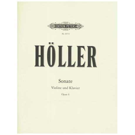 Höller, K.: Violinsonate Op. 4