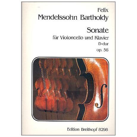 Mendelssohn, B. F.: Sonate Nr. 2 Op. 58 D-Dur
