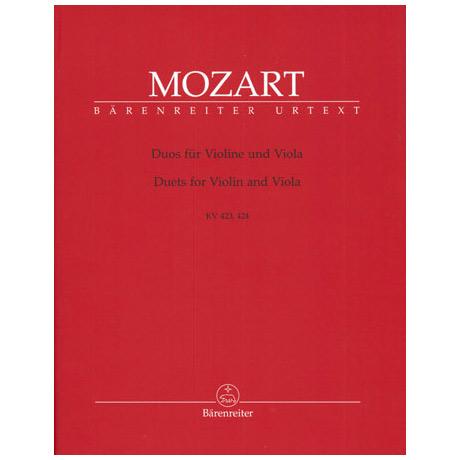 Mozart, W.A.: Duos für Violine und Viola KV 423,424