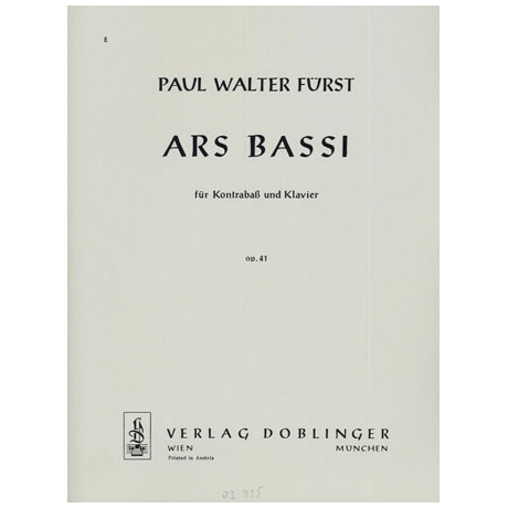 Fürst, P.W.: Ars bassi Op.41