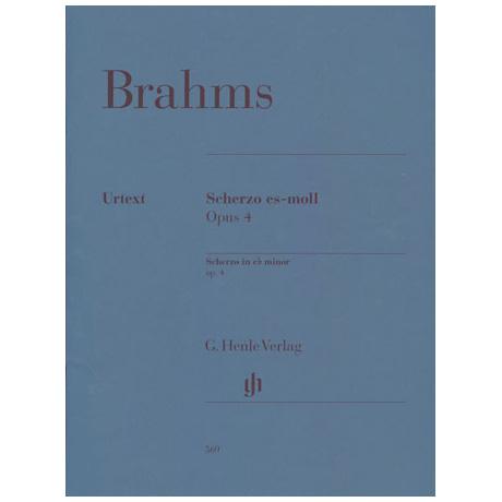 Brahms, J.: Scherzo es-Moll Op. 4
