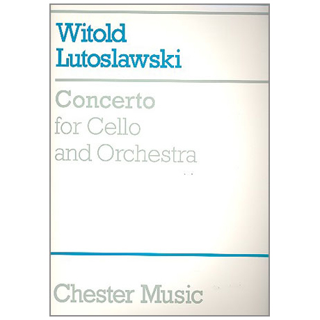 Lutoslawski, W.: Violoncellokonzert – Partitur