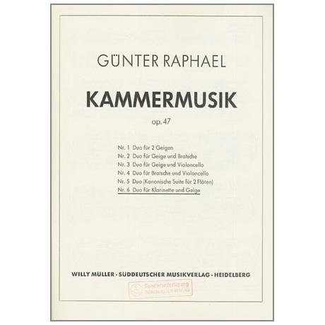 Raphael, G.: Duo Nr. 6