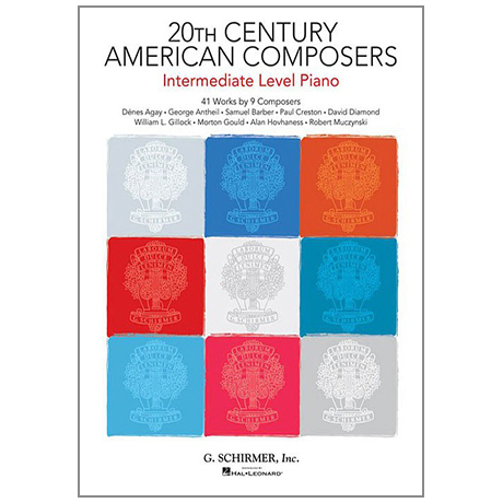 20th Century American Composers – Intermediate Level Piano