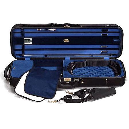 Jakob WINTER Luxury Geigenkasten 4/4 | schwarz/blau