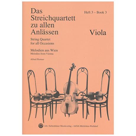 Das Streichquartett zu allen Anlässen Band 3 – Viola